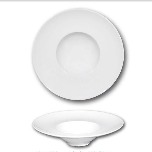Assiette à risotto en porcelaine blanche - D 24 cm - Napoli