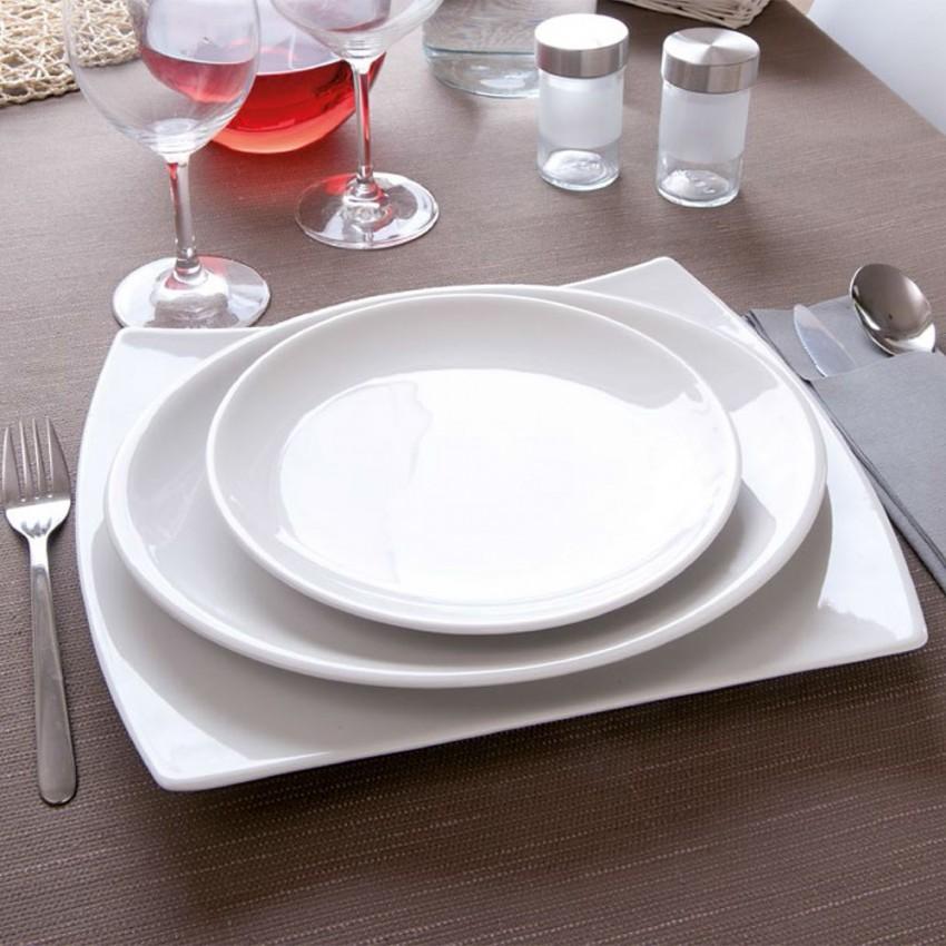 Lot de 6 petite assiette porcelaine blanche - D 17 cm - Siviglia