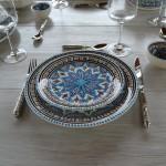 Assiette plate Bakir turquoise - D 24 cm