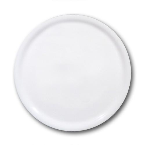 Lot 6 assiettes à pizza porcelaine blanche - D 35 cm