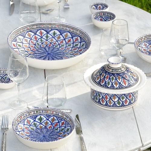 Lot de 6 assiettes creuses jattes Bakir bleu - D 20 cm