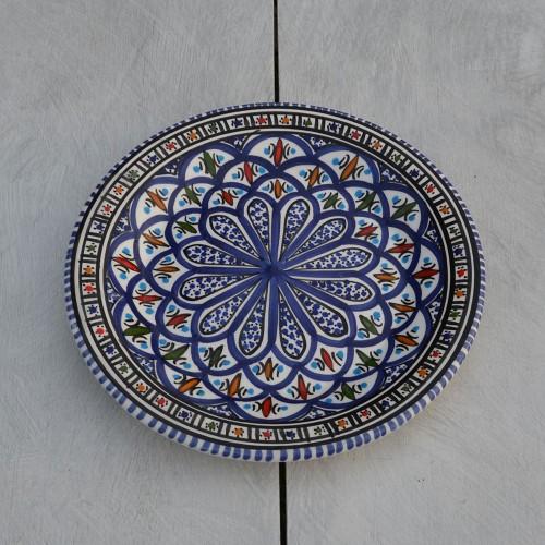 Lot de 6 assiettes plates Bakir bleu - D 24 cm