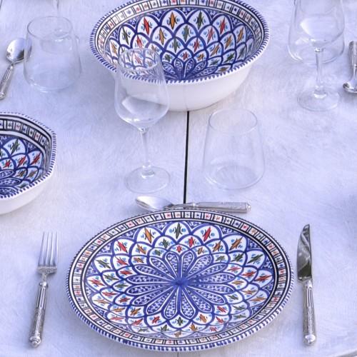 Assiette plate Bakir bleu - D 28 cm