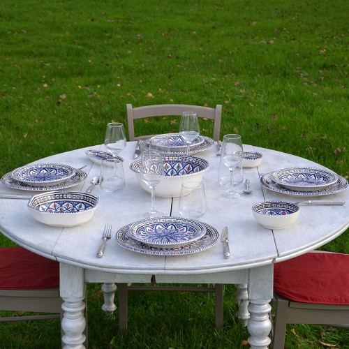 Service de table Bakir bleu - 6 pers