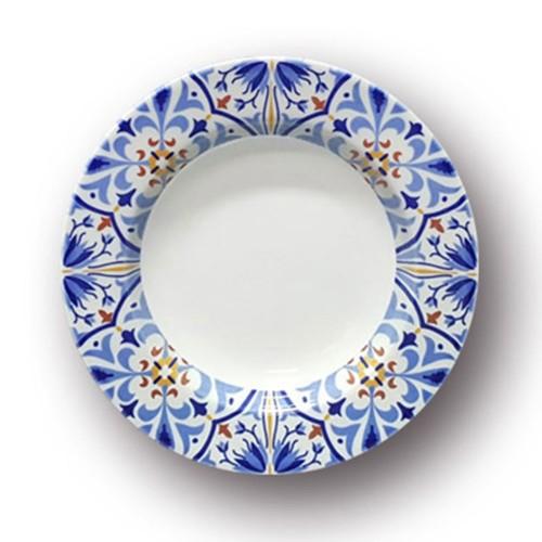 Lot 6 assiettes creuses Amalfi - D 23 cm