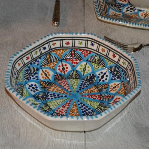 Plat octogonal Bakir Royal - L 25 cm