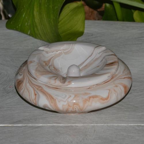 Cendrier marocain Anis marbré marron, gris et blanc Moyen Modèle