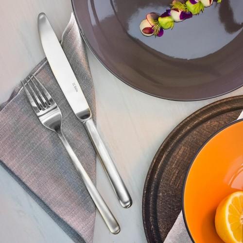 Lot de 6 fourchettes et 6 couteaux en inox Faro