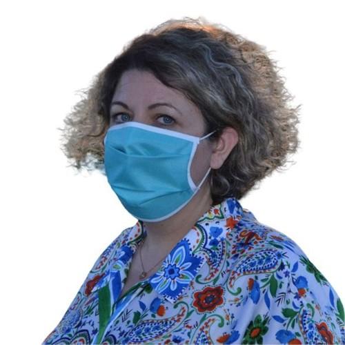 Masques en tissu Bleu- Lot de 2