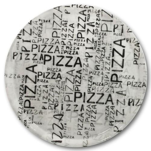 Assiette à pizza White & Black - D 31 cm
