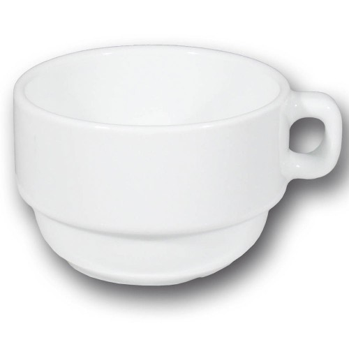 Service à café grandes tasses 2 personnes porcelaine blanche - Roma