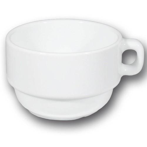 Grande tasse et soucoupe porcelaine blanche - Roma