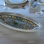Plat ovale Bakir vert - L 53 cm