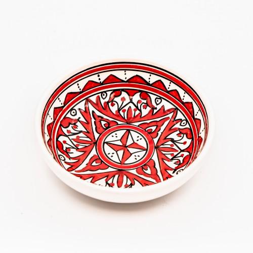 Assiette creuse jatte Nejma rouge - D 20 cm