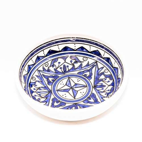 Petit plat jatte Nejma bleu - D 15 cm