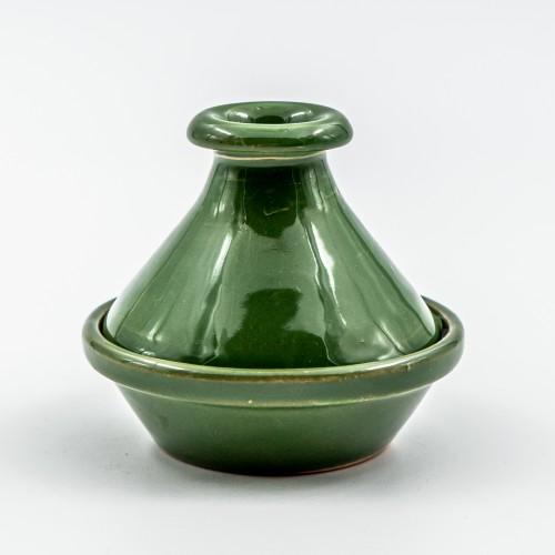 Mini tajine Uni Vert foncé - D 9 cm