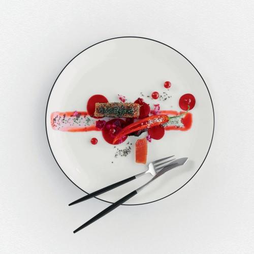 Assiette plate Ligne Noire - D 26.5 cm