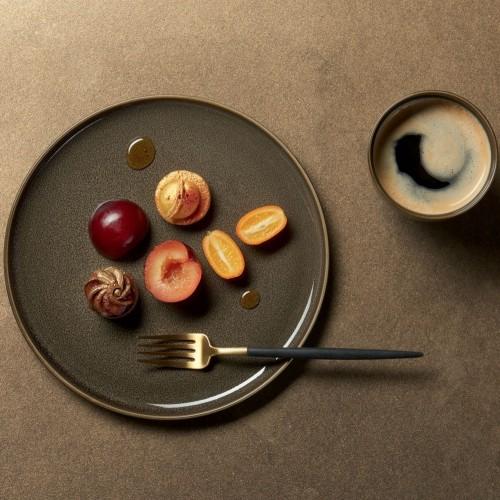 Assiette à entrée ou à dessert - D 21cm Verte - Kolibri Chestnut