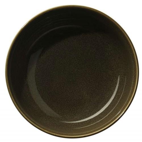 Assiette à soupe ou à pâtes - D 22 cm Verte - Kolibri Chestnut