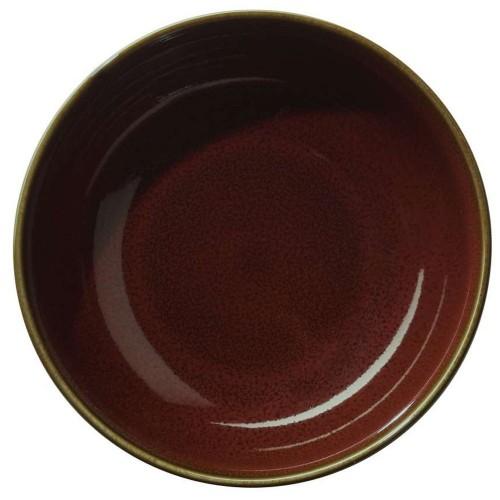 Assiette creuse gourmet- D 24 cm Rouge - Kolibri Rusty Red