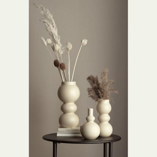 Vase Como Crème 3 Boules- H 19 cm