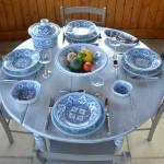 Service à couscous Marocain turquoise assiettes creuses - 6 pers