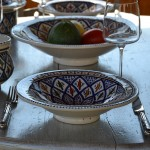 Assiette Tebsi Bakir bleu - D 23 cm