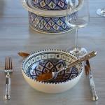 Service à soupe avec Querouana Bakir bleu - 6 pers