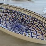 Plat ovale Bakir bleu - L 40 cm