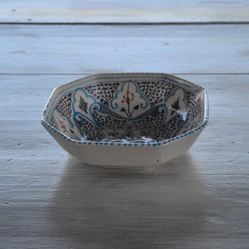 Plat octogonal Marocain turquoise - L 25 cm