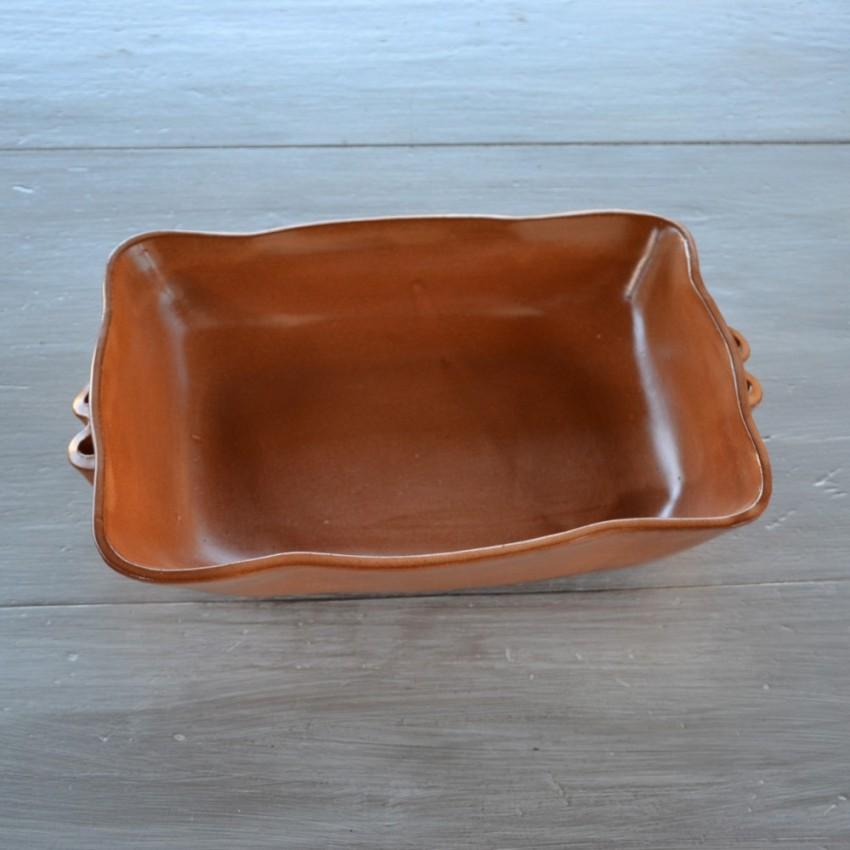 Plat à four rectangulaire en terre cuite - L 30 cm