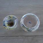 Cendrier Tunisien marbré blanc, jaune et bleu - Petit modèle