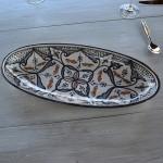 Plat ovale Marocain noir - L 20 cm