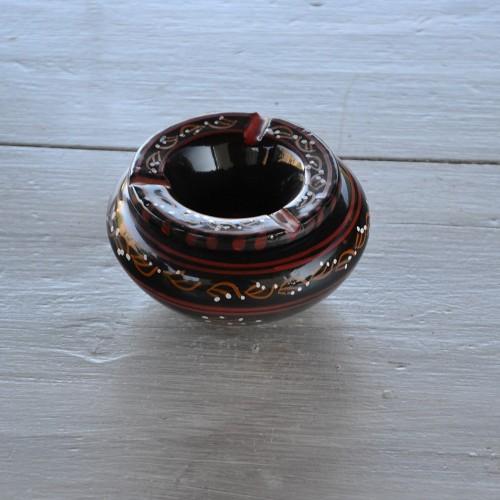 Cendrier anti fumée Tatoué noir - Petit modèle