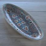 Plat ovale Marocain turquoise - L 53 cm