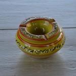 Cendrier tunisien Tatoué vert pistache - Petit modèle