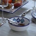 Service de table Sahel bleu - 6 pers
