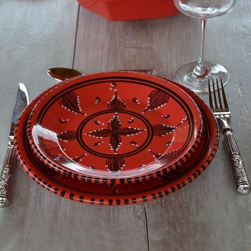 Service de table Tatoué rouge - 12 pers