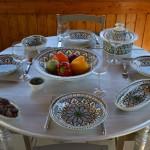 Service à couscous assiettes creuses Bakir vert - 12 pers