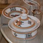 Service à couscous assiettes Tebsi Sahel beige - 12 pers