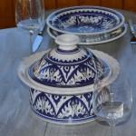 Service à couscous assiettes Tebsis Nejma bleu - 12 pers