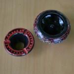 Cendrier anti fumée noir - Mini modèle