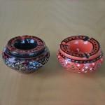 Lot 2 mini cendriers Marrakech Noir et Rouge