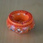 Lot 3 mini cendriers Marrakech Rouge, Noir et Orange
