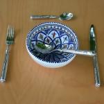 Service à soupe Jileni bleu - 6 pers
