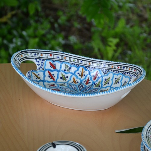 Corbeille Jileni turquoise