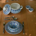 Service à soupe Bakir turquoise - 6 pers
