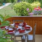 Service à couscous assiettes creuses Tatoué rouge - 8 pers