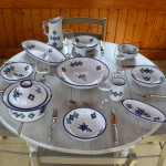 Service à couscous assiettes jattes Sahel bleu - 8 pers