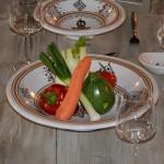 Service à couscous assiettes Tebsi Sahel beige - 8 pers